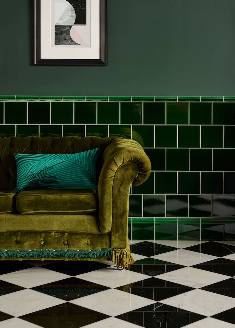 2019 interiors colour trends tiles