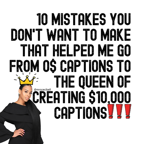 10 Mistakes You Don't Want to Make - FREE Download