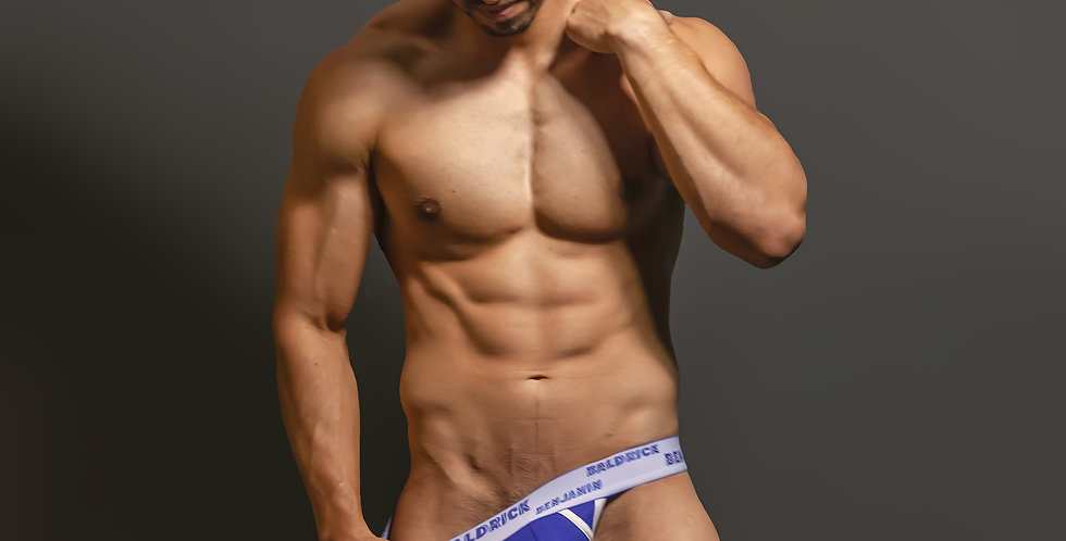 Abstract Thong - Blue