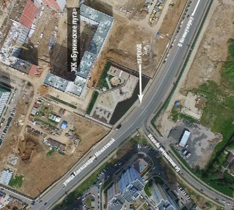 Предложения по переходу в районе д. 95 на улице Монаховой