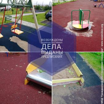 Ответ АТИ на наш рейд по детским площадкам: возбуждены административные дела, выданы предписания