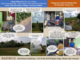 Penggunaan Pupuk & Pestisida Kimia terhadap Kesehatan Pekerja Tani di Bali