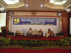 Training for Field Facilitator (TFL) of Community-based Environmental Sanitation (SLBM) in order to
