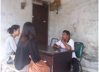 SANIMAS Site Visit and Monitoring; BALIFOKUS Team with students from Environmental Engineering of Ba