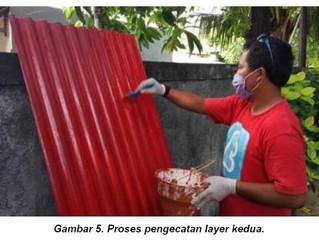 Pengecatan Asbestos (Solvent-based Paint).