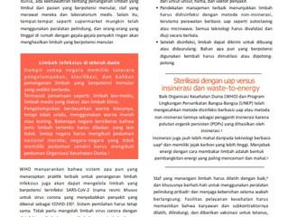 Pengelolaan limbah layanan kesehatan selama wabah COVID-19