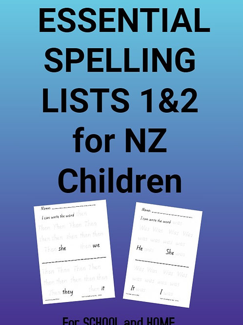 Essential Spelling Lists 1&2