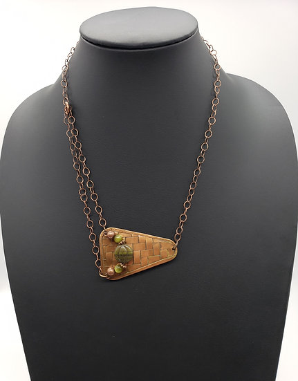 Antique Copper Pendant and Chain - Can Be Worn Multiple Ways!!