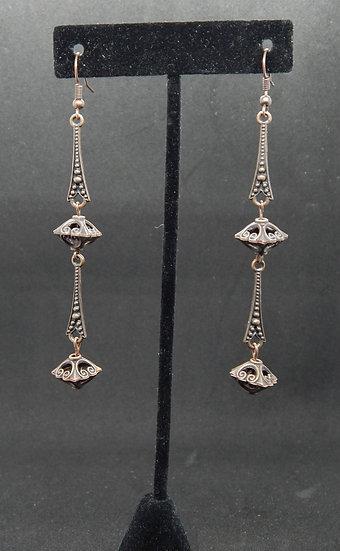 Antique Copper Eiffel Tower Dangle Earrings