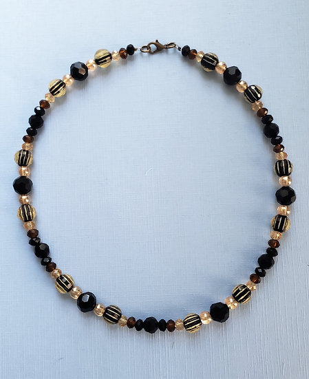 Black and Earth Toned Necklace