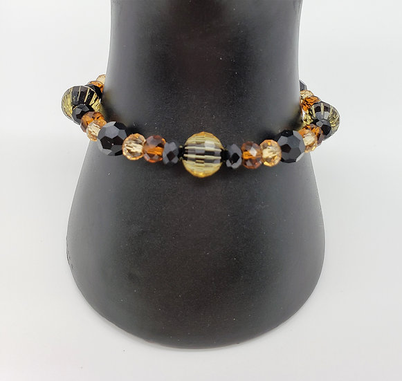 Earth Tones and Black Bracelet