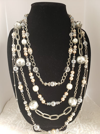 Pearl and Dainty Pink and Crystal Accents