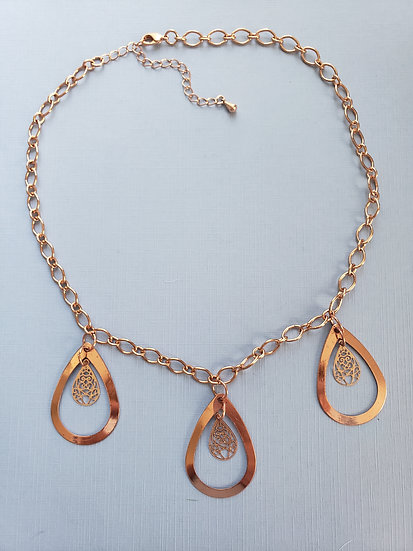 Rose Gold Tear Drop Necklace