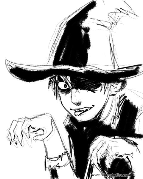 halloween sketch of Spazz