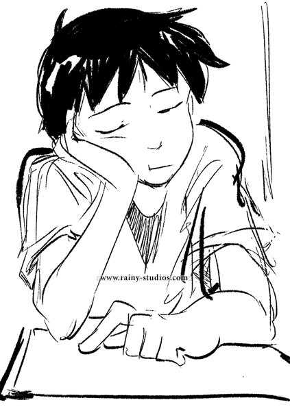 shinji from evangelion sketch