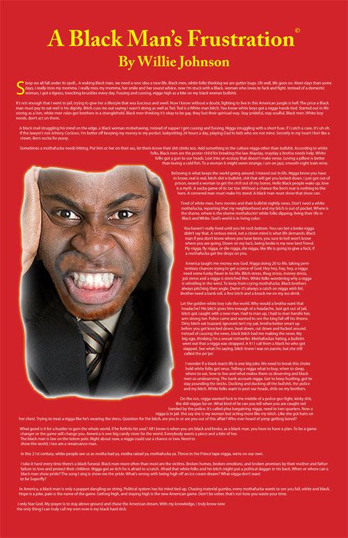 A Black Man's Frustration