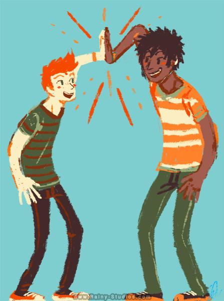 Jace and Brandon Hi-5