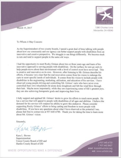 Union County Letter