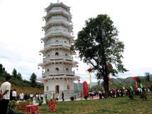 虎豹塔重現中國福建省