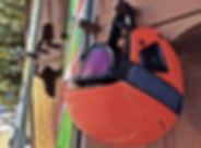 Red Ski Helmet