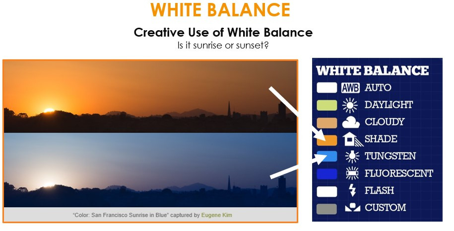 Creative use of white balance