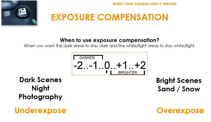 When to use exposure compensation