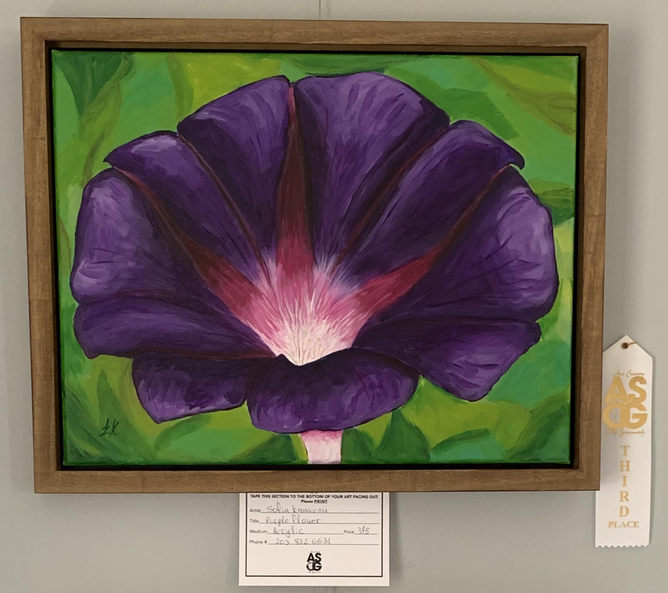 Sofia Kanavou 3rd Acrylic Purple Flower.