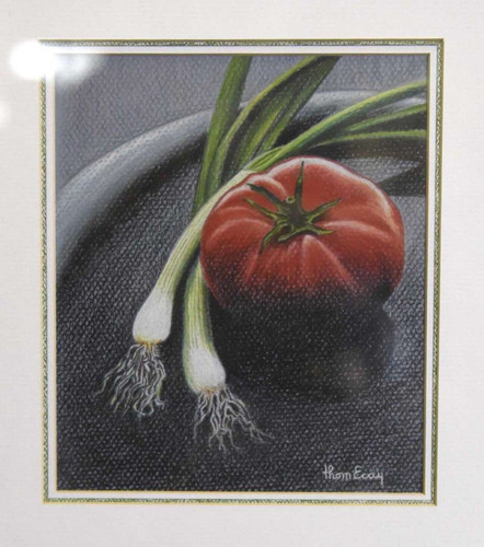 "Thom Ecay's first-place drawing/graphics/pastel entry ""Tomato"""