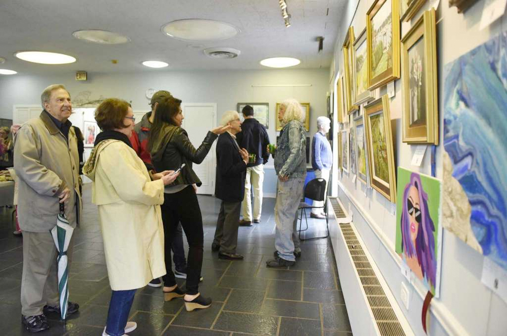 spring art show entries on display