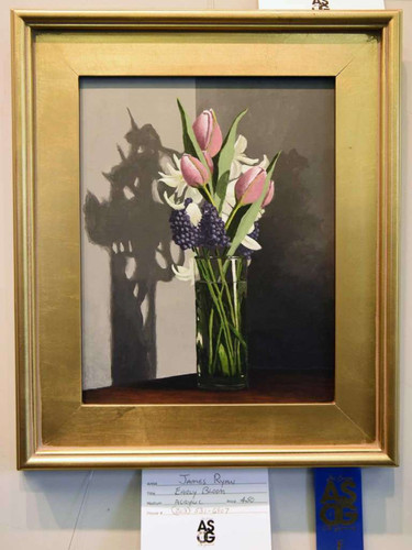 "James Ryan's first-place acrylic painting ""Early Bloom"""