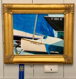James Ryan 1st Acrylic Winter Boatyard