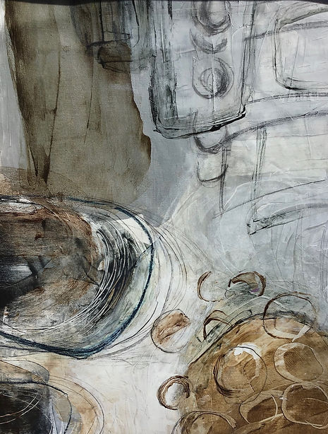 Neutral Gray Painting by Lauren Hunt