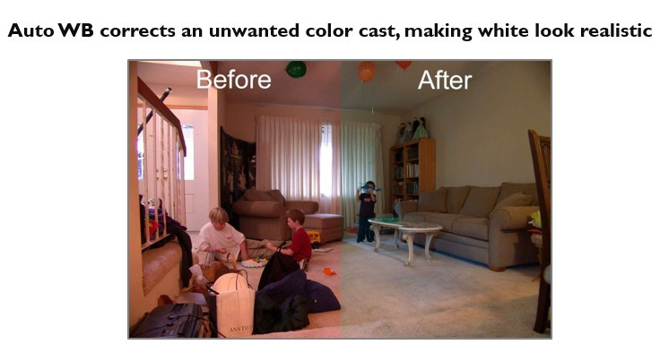 Auto White Balance Corrects Color