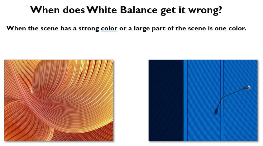 When to use white balance settings