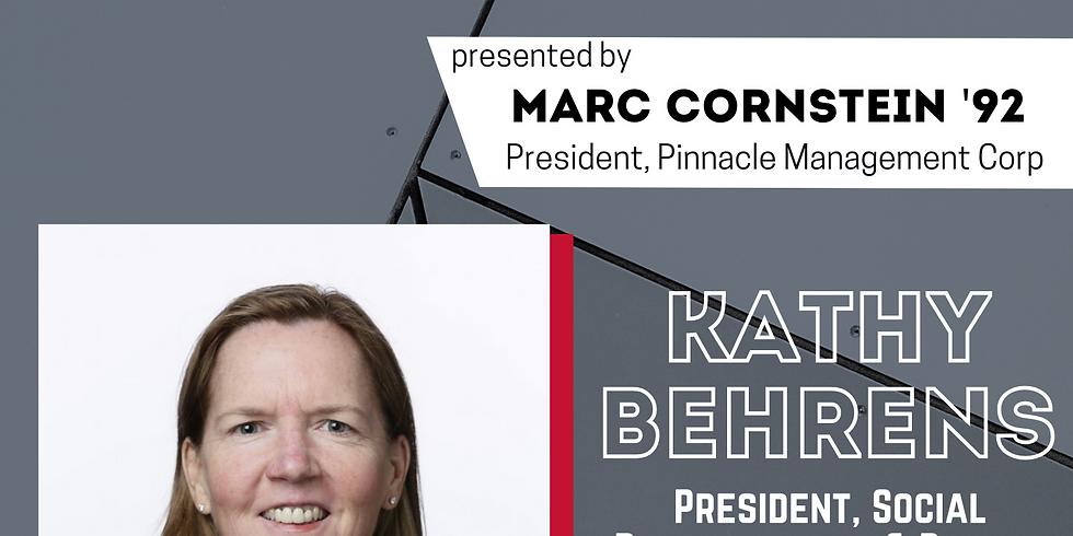 Kathy Behrens: Star Speaker Series presented by Marc Cornstein '92, President, Pinnacle Management Corp