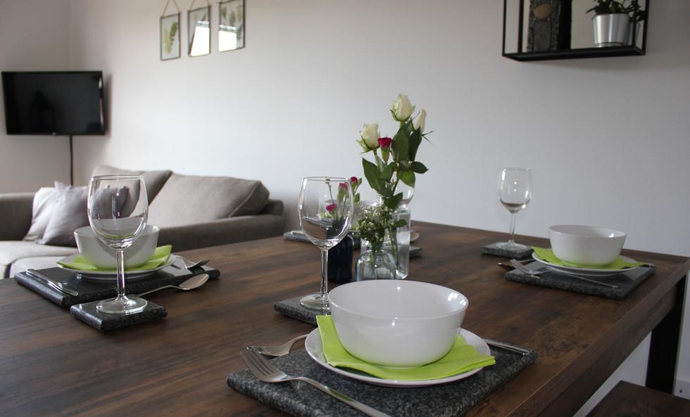 Six Stevenson House dining table