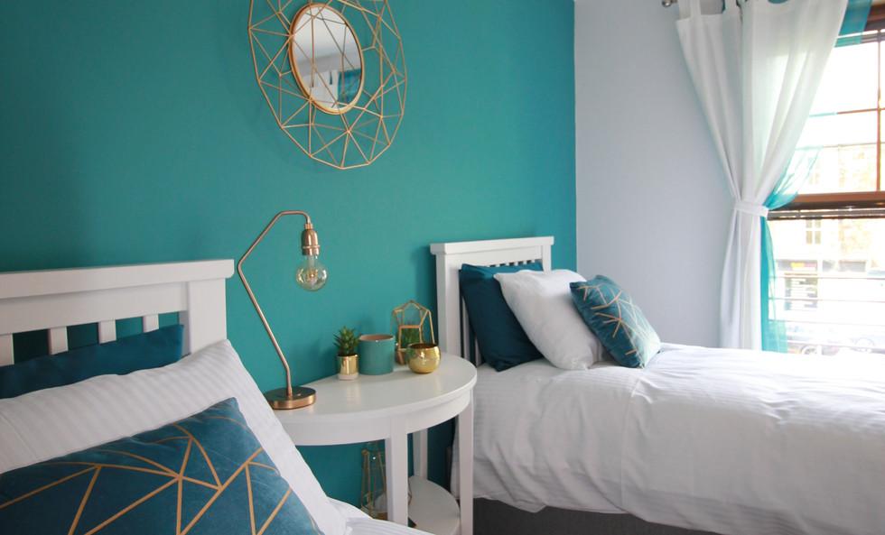 Six Stevenson House twin bedroom