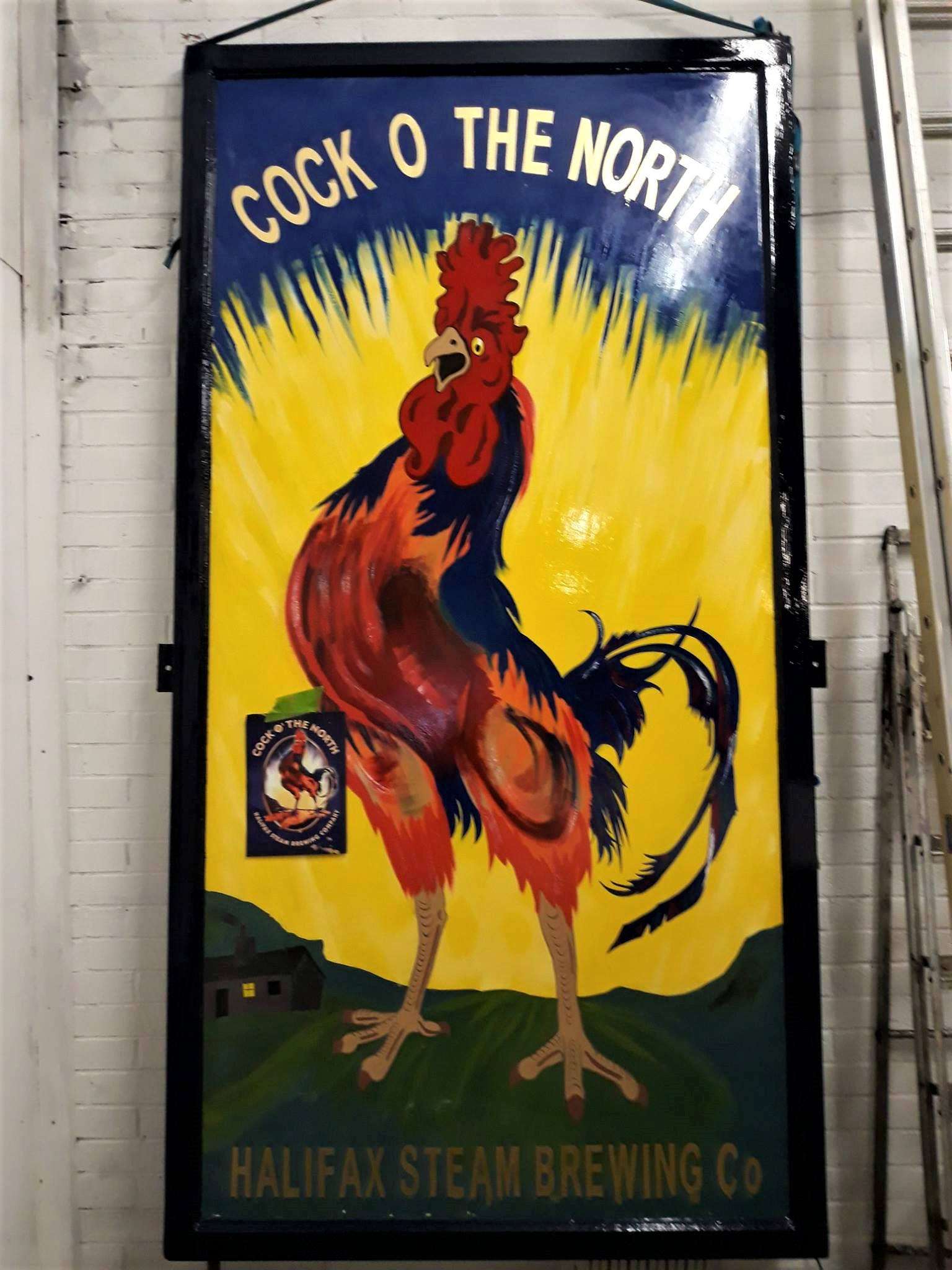 Cock OThe North Pub Sign Restoration