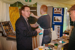 Marbling Demo at Thorpe Perrow