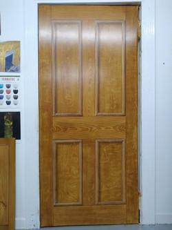 Quartered oak trompe l'oeil door