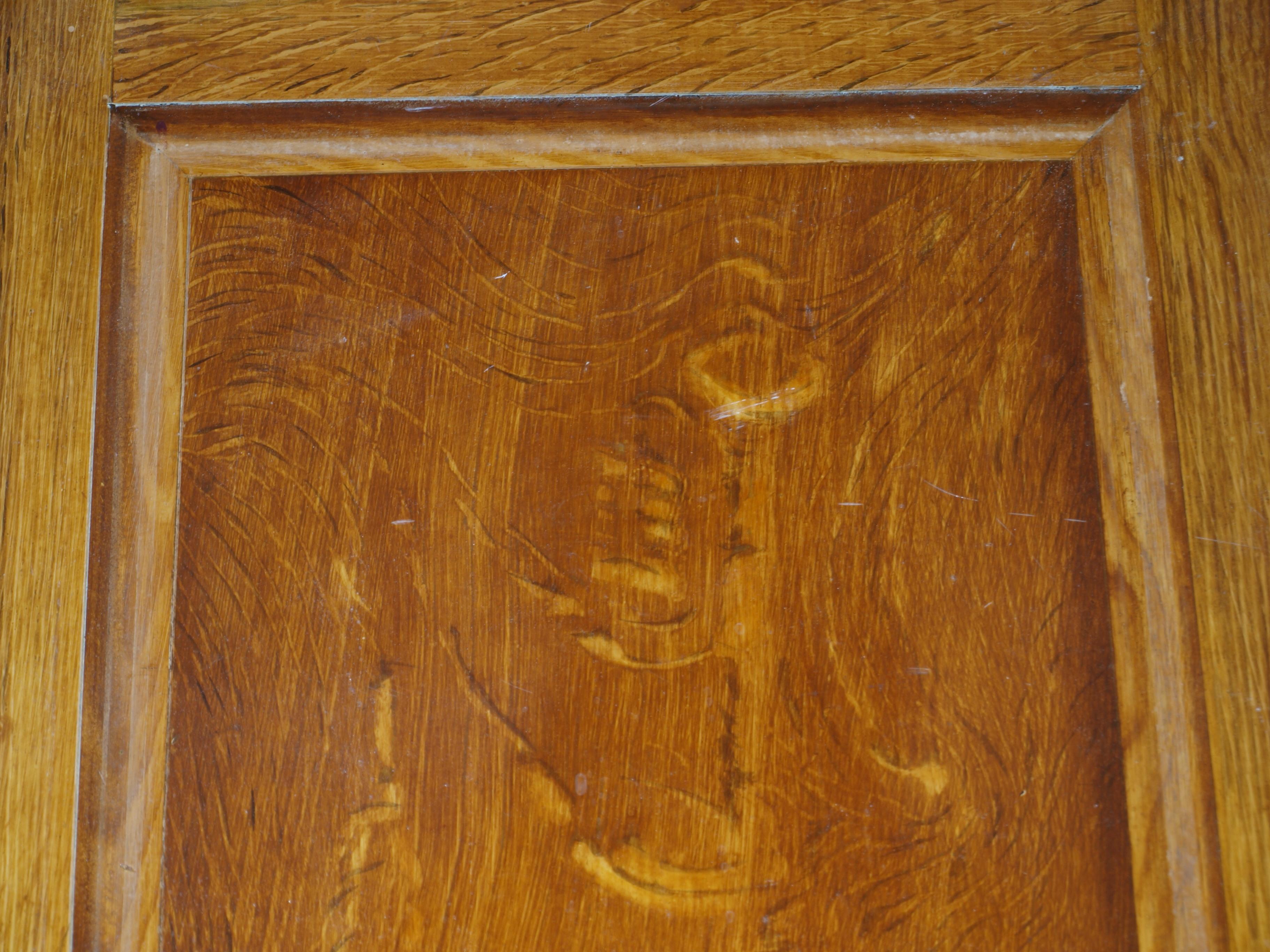 Tromp l'oeil quartered oak