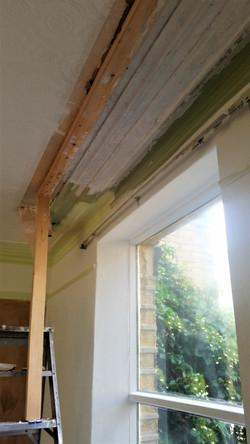 Restored Plaster Coving Run in Situe