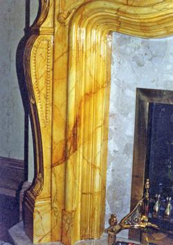 Sienna Marbling Fireplace