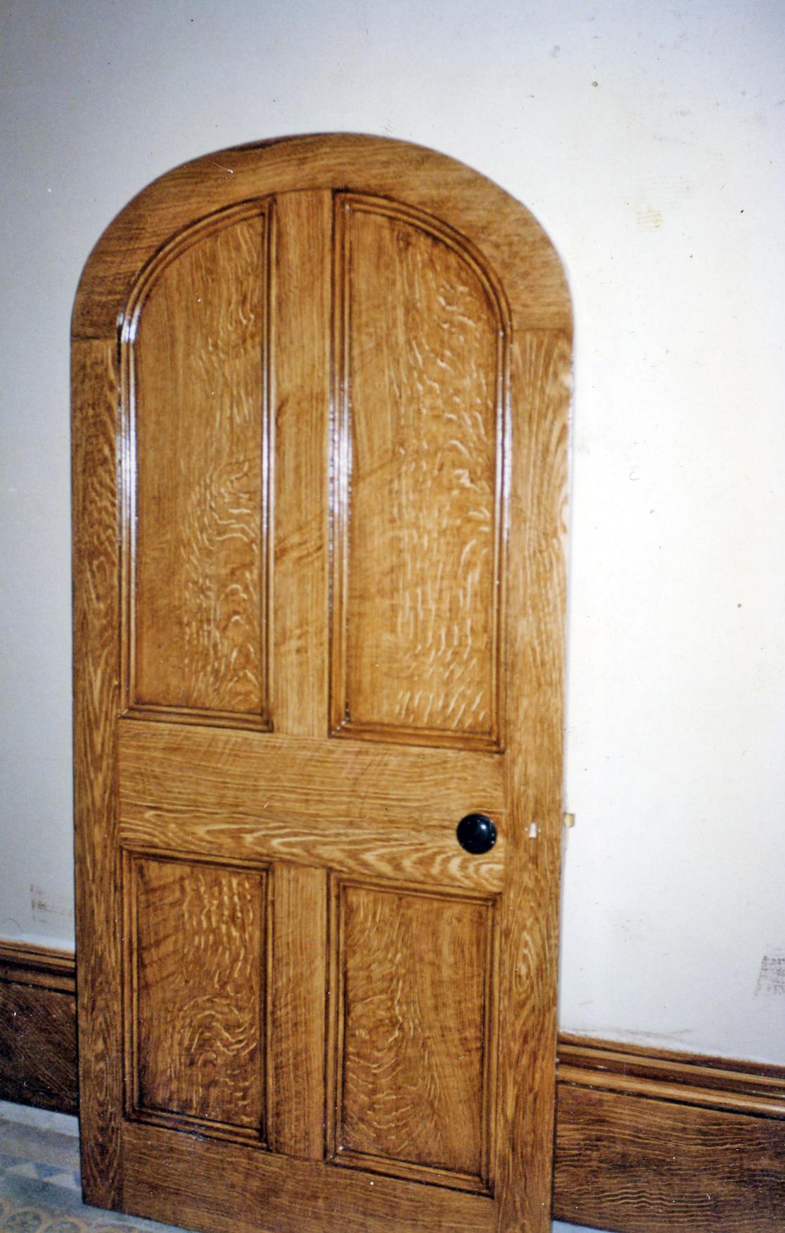 Quartered oak doors