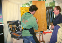 Wood Graining Demo at Thorpe Perrow