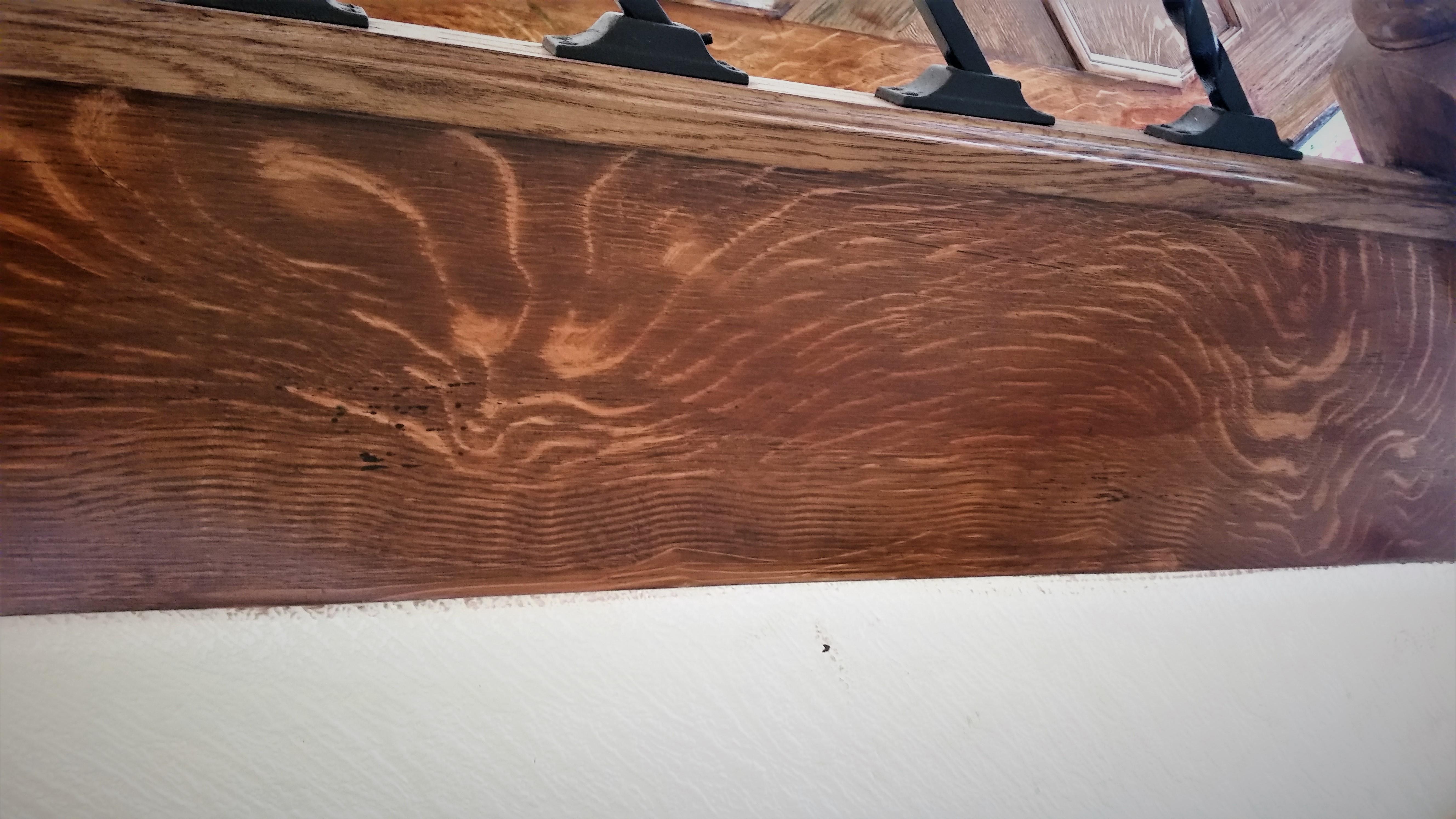 Quartered Oak Wood Grained Stairside