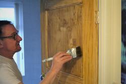 Wood Graining - Matching an Oak Door