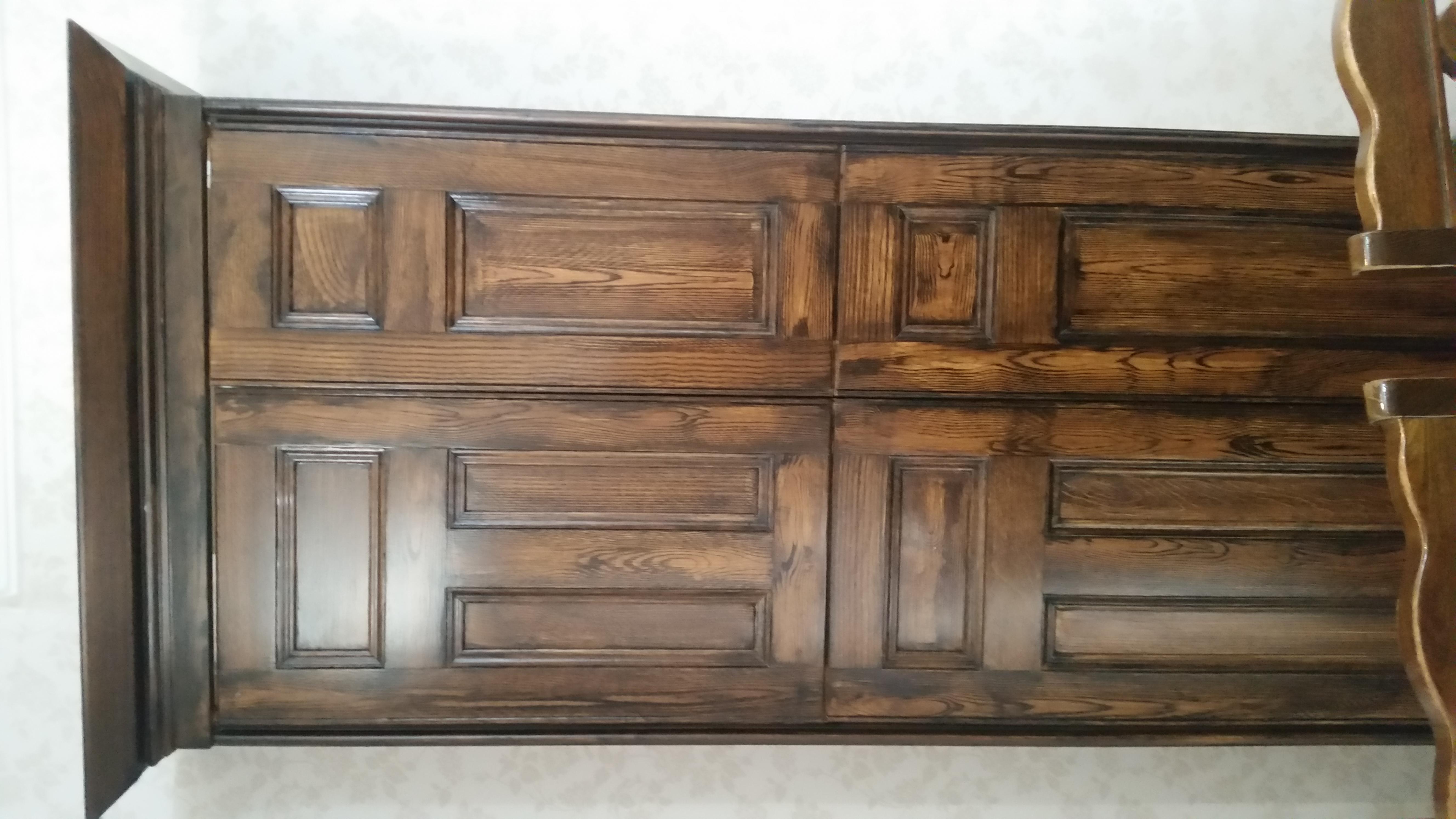 Dark Oak Grained Boiler Cabinet