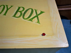 Wood Grained & Signwritten Toybox