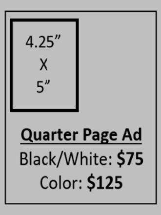 AD - QUARTER PAGE BLACK & WHITE